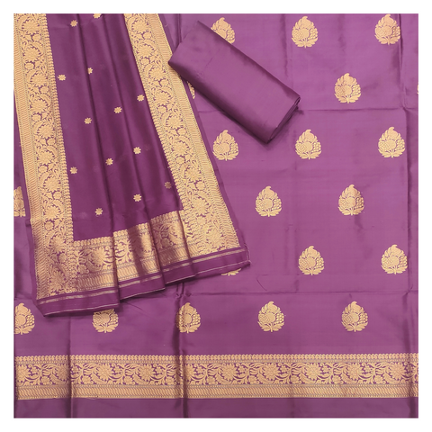 PURPLE SILK DRESS MATERIAL