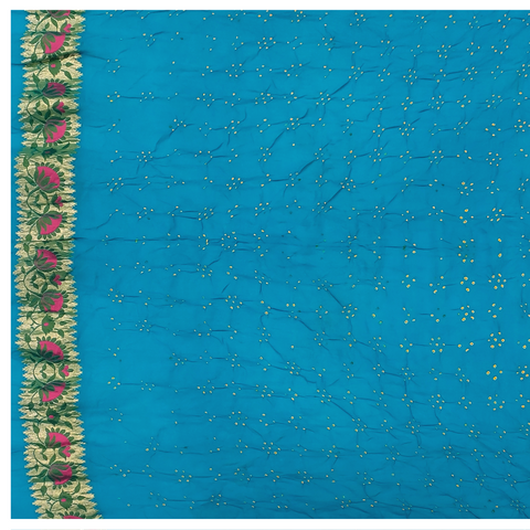 BLUE GEORGETTE BANDHANI SAREE