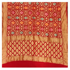 RED GEORGETTE DUPATTA / STOLES