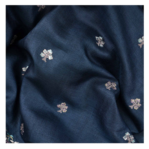 BLUE COTTON TUSSAR SAREES