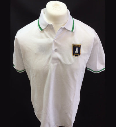 White Polo Shirt - Year Seven - Emerald trim (SIGMA house) (CS)