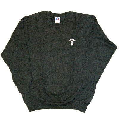 Black School Embroidered Sweatshirt (CS)