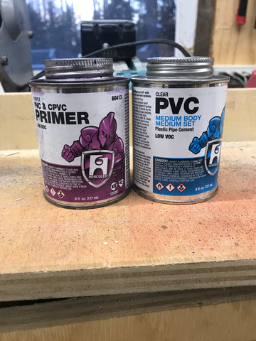 pvc primer and cement