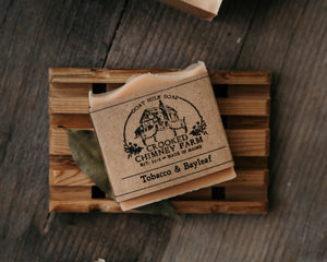 crooked chimney farm tobacco and bayleaf soap