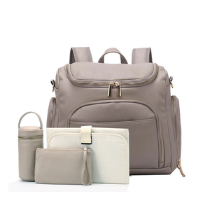 PU Leather Baby Nappy Diaper Bag