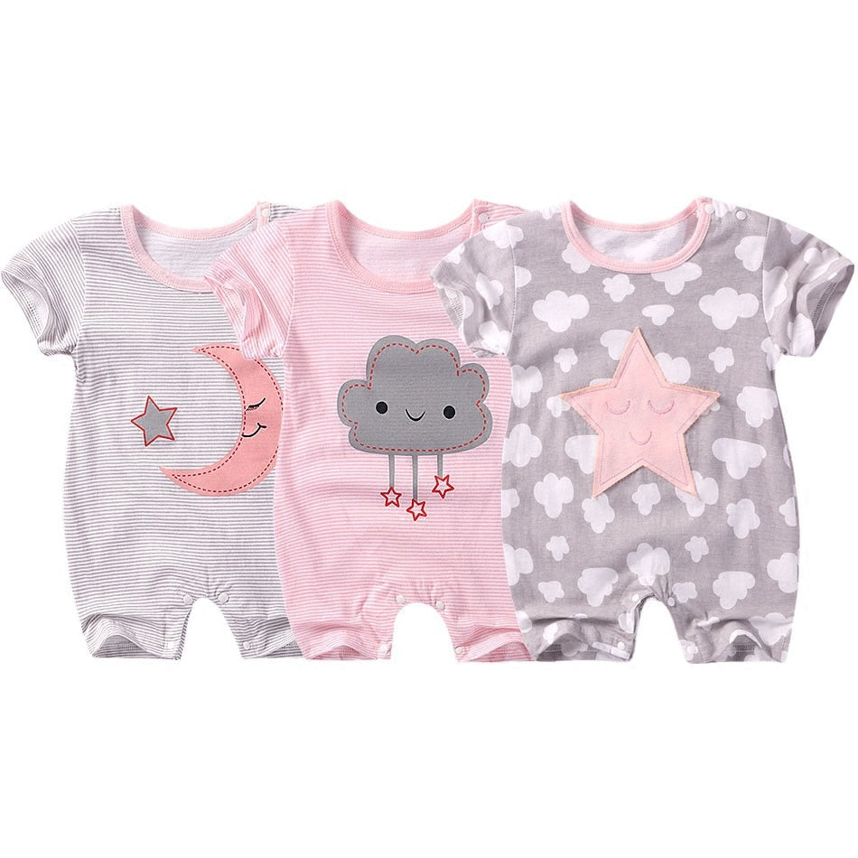 0-12month baby girls clothes rompers summer