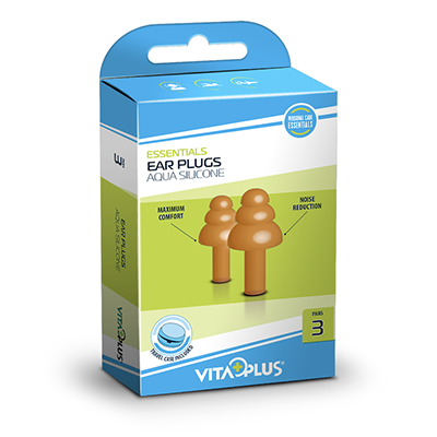 VP Ear Plugs Aqua Silicone (3 pairs)