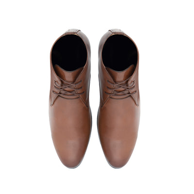 Panelled Lace-Up Boots