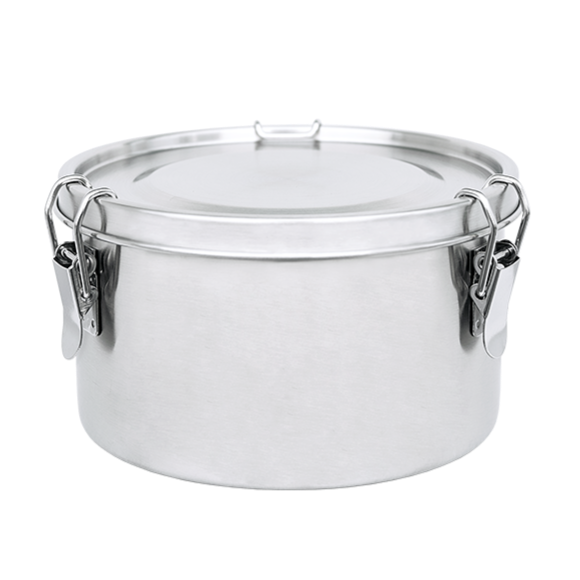 Food Container Stainless Steel Round 1200 ml