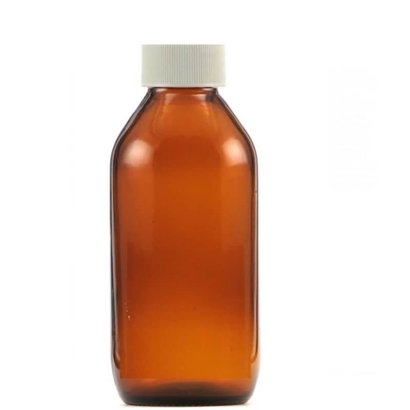 Amber Glass Bottle with Cap 300ml / each - Zero Waste Bali