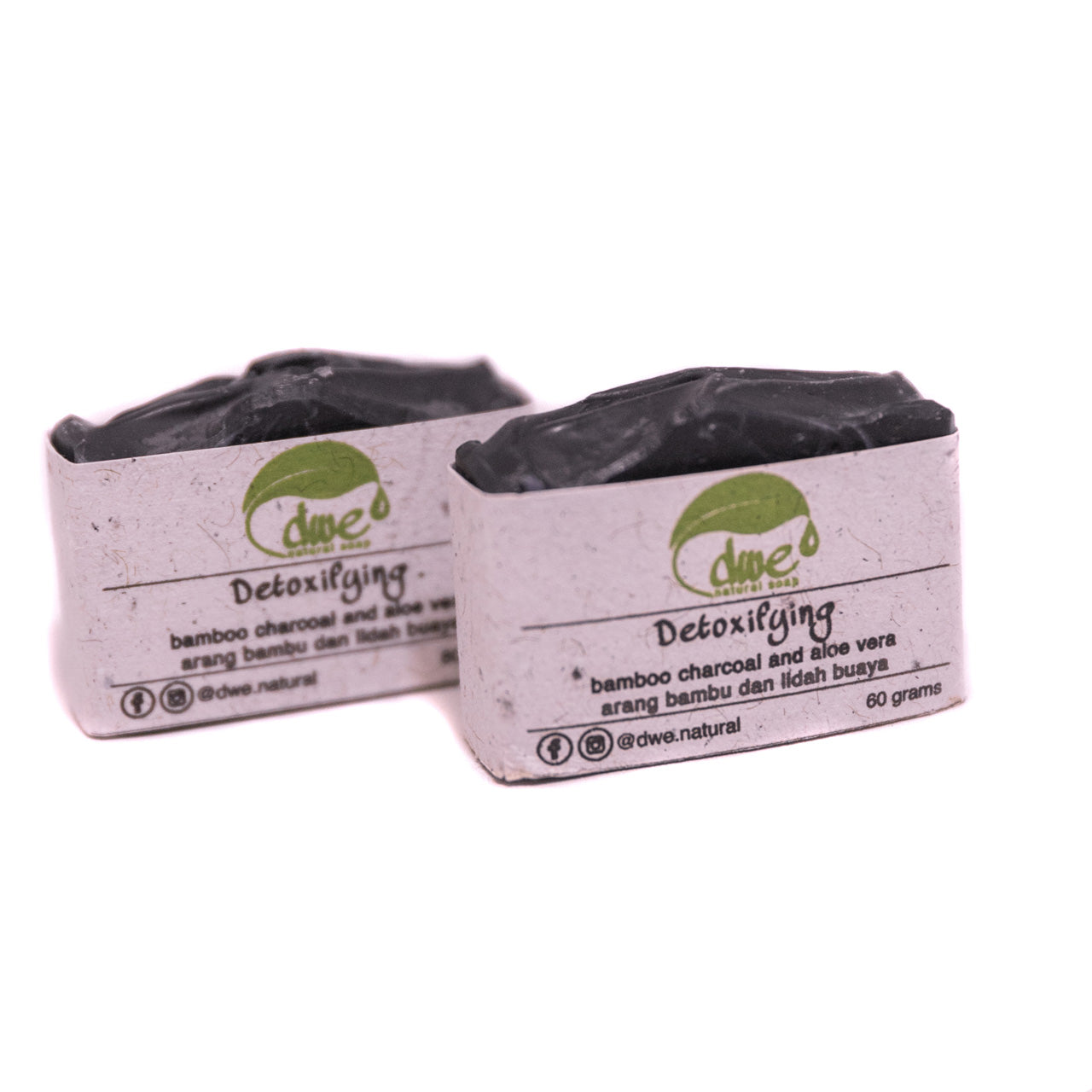Detoxifying - Charcoal & Aloe Vera Soap Bar 60g/Each