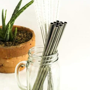 Stainless Straight Straw L / Each - Zero Waste Bali