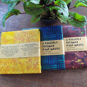 Batik Cotton Beeswax Wrap set of 3 / each - Zero Waste Bali
