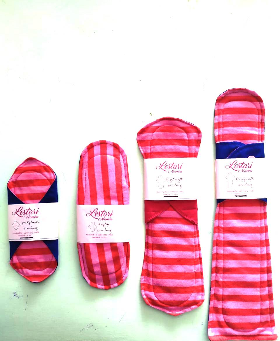 Reusable Menstrual Pad package set of 4 / each - Zero Waste Bali