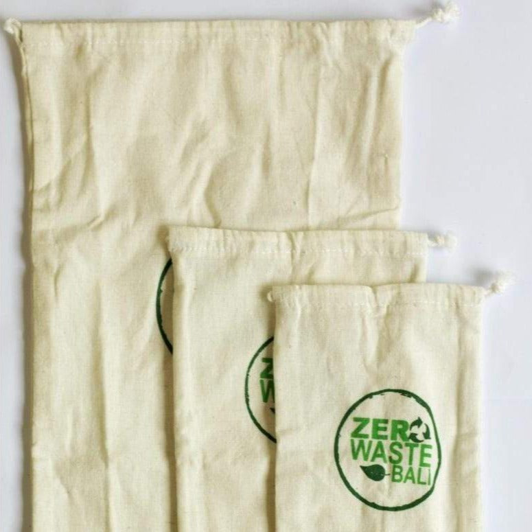 Set of 3's Cotton Produce Bags / Each - Zero Waste Bali