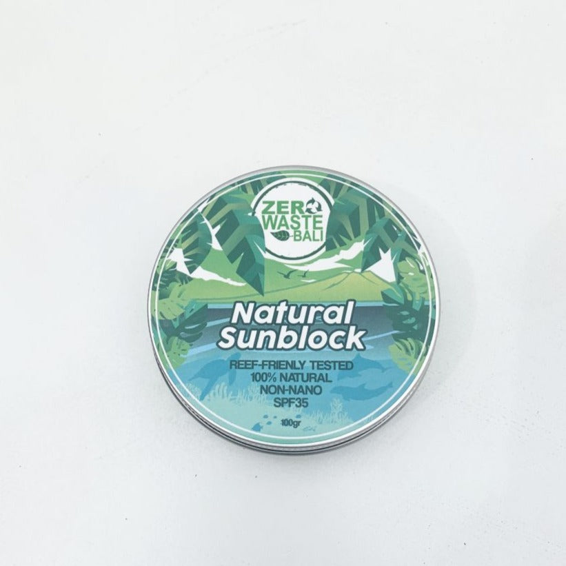 Natural Sunblock SPF 35 / Each - Zero Waste Bali