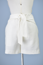 Short off white alfaiataria M