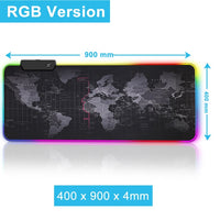 World Map Mousepad + Backlight