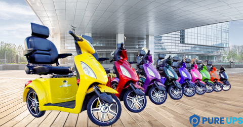 ew-36 mobility scooters with many colors options to choose from- pureups