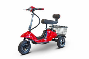 RED 3WHEEL SCOOTER EW-19 Sporty 3 Wheel Electric Mobility Scooter By EWheels-FULLY ASSEMBLED - PureUps