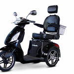 BLACK 3WHEEL SCOOTER EW-36 Senior 3 Wheel Electric Mobility Scooter With Digital Anti-Theft Alarm-FULLY ASSEMBLED - PureUps
