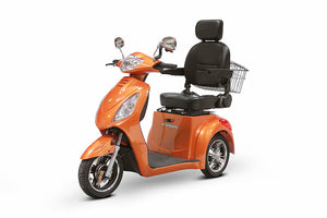 ORANGE 3WHEEL SCOOTER EW-36 Senior 3 Wheel Electric Mobility Scooter With Digital Anti-Theft Alarm-FULLY ASSEMBLED - PureUps