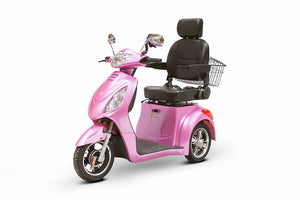 Magenta 3WHEEL SCOOTER EW-36 Senior 3 Wheel Electric Mobility Scooter With Digital Anti-Theft Alarm-FULLY ASSEMBLED - PureUps