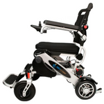 SILVER ELECTRIC WHEELSCHAIR Geo Cruiser DX Lightweight Foldable Electric Wheelchair - PureUps