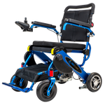BLUE ELECTRIC WHEELSCHAIR Geo Cruiser DX Lightweight Foldable Electric Wheelchair - PureUps
