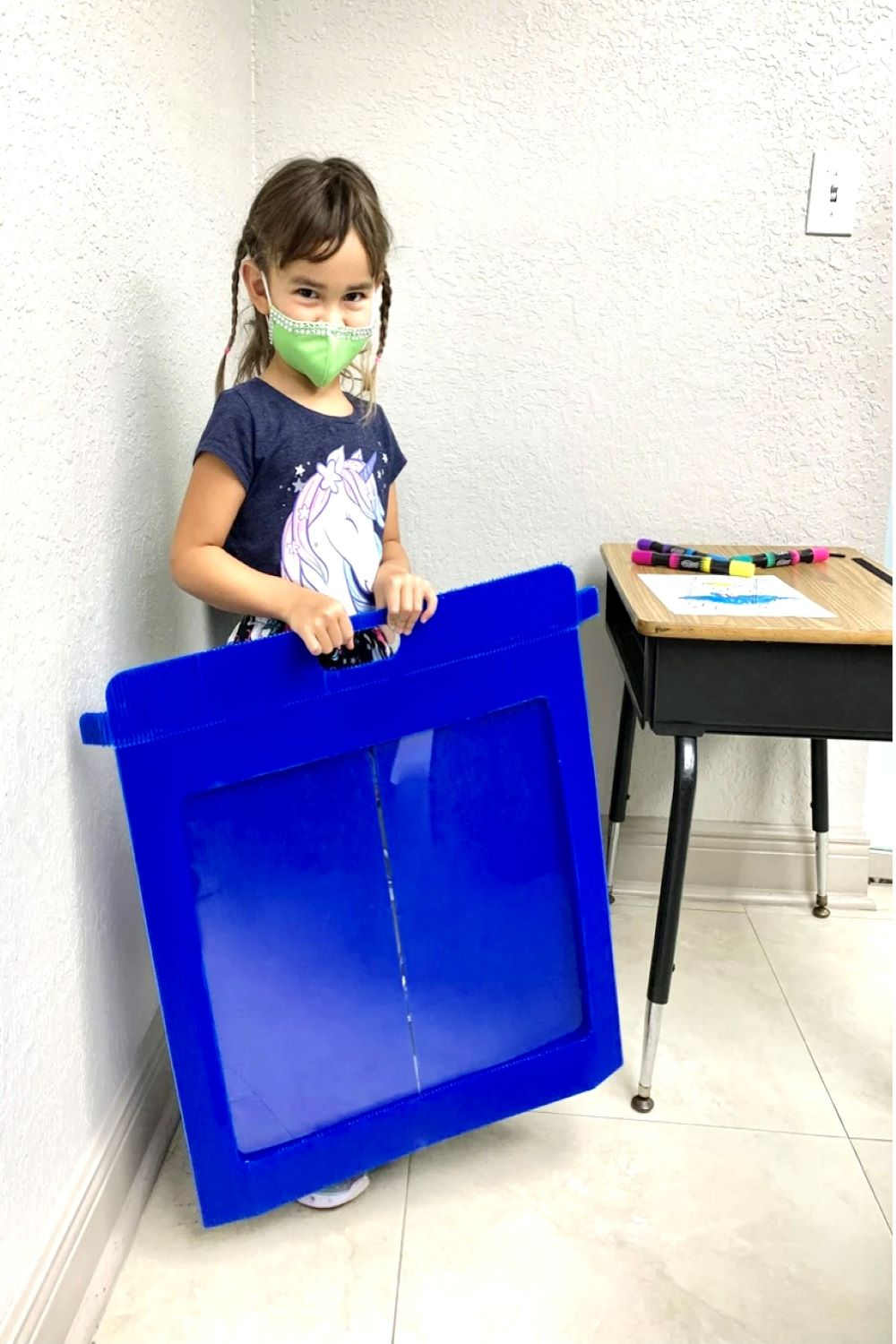 sneeze guards, productive guards, portable guards Foldable Carry-on Lightweight School Desk Sneeze and Cough Barrie LARGE - PureUps