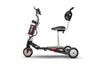 BLACK 3WHEEL SCOOTER EW-07 Eforce 3 Wheel Mobility Scooter-Airline Approved - Lithium Battery By E-Wheels - PureUps