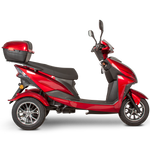 RED 3WHEEL SCOOTER EW-10 Electric 3 Wheel Sport Mobility Scooter By E-Wheels FULLY ASSEMBLED - PureUps