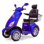 BLUE 4 WHEEL SCOOTER EW-72 Electric 4 Wheel Mobility Scooter for Adults- Fully Assembled & Ready To Go - PureUps