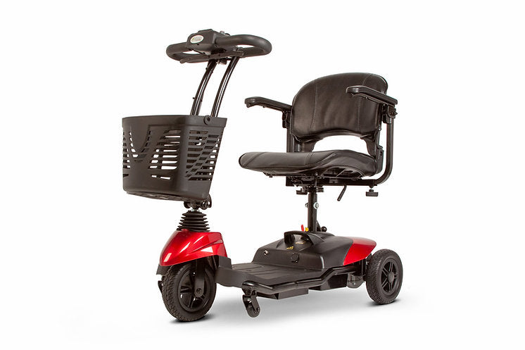 3WHEEL SCOOTER EW-M33 Electric Three-Wheel Lightweight Travel mobility Scooter with Swivel Seat By E-Wheels-RED - PureUps
