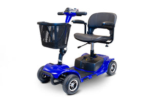 BLUE 4 WHEEL SCOOTER EW-M34 Medical 4 Wheel Mobility Scooter With Swivel Seat - PureUps