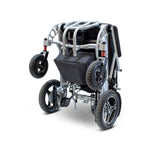 power wheelchair EW-M43 Lightweight Portable Folding Power Wheelchair By E-Wheels Medical -Silver - PureUps