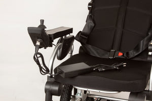 power wheelchair EW-M49 Smart Folding Electric Powered Wheelchair- FULLY ADJUSTABLE By E-wheels Medical - PureUps