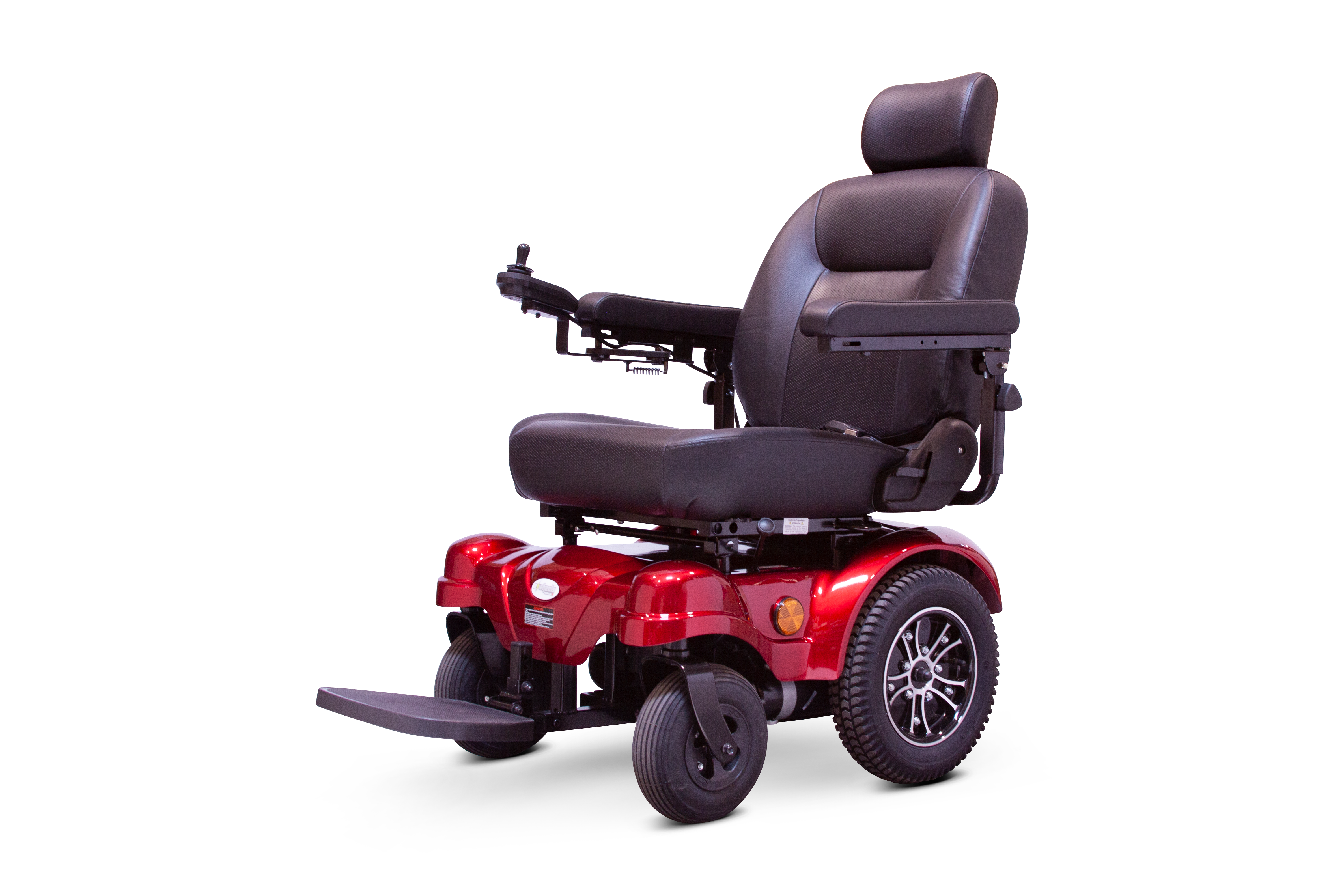 RED power wheelchair EW-M51 Medical Electric Power Wheelchair By E-Wheels Medical - PureUps