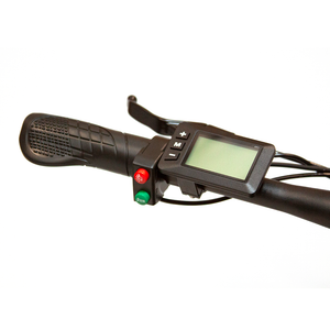 ew-rugged ebike right handle with a digital dashboard