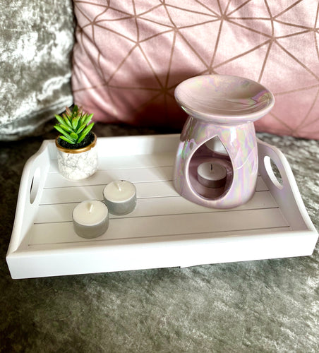 Pink Pearlescent Ceramic Warmer