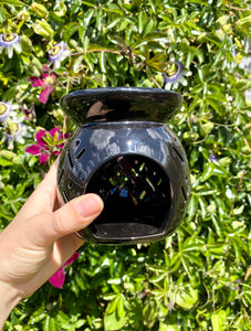 Black Detailed Ceramic Warmer