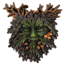 Load image into Gallery viewer, Green Man Face Plaque