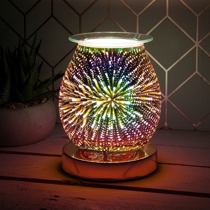 Touch Sensitive Aroma Lamp Fireworks (Rosegold Base)
