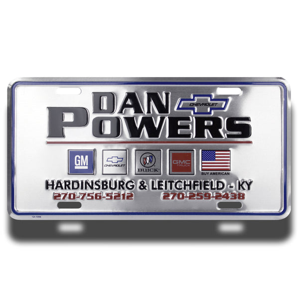 Embossed Aluminum Standard License Plates | 5012-AT - Dixiline