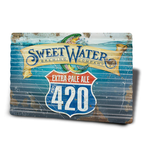"Aluminum Corrugated 12"" x 18"" Signs 