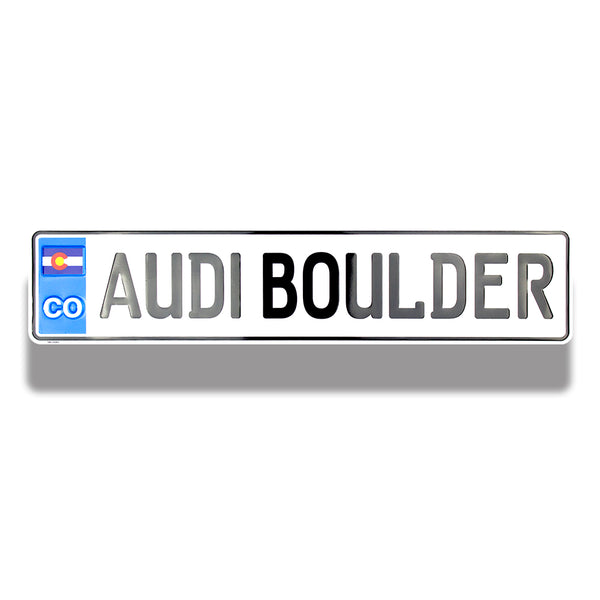 Embossed Aluminum European License Plates | 5012-EP - Dixiline