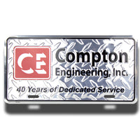 Embossed Aluminum Deluxe License Plates | 5012-SSD | SSD-4C - Dixiline