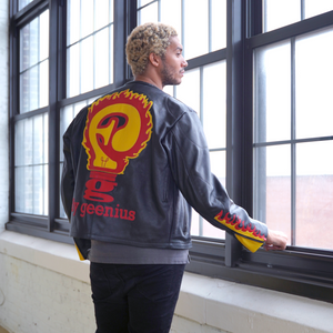 FLAME RACER LEATHER JACKET