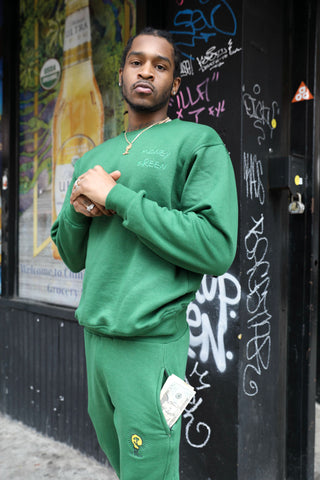 MONEY GREEN SWEATSUIT