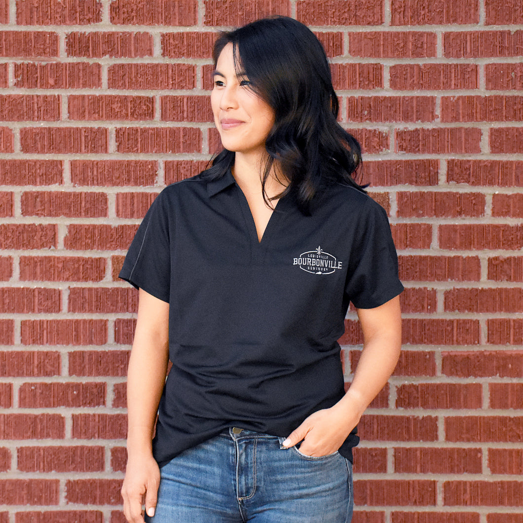 Ladies Golf Shirt - Black